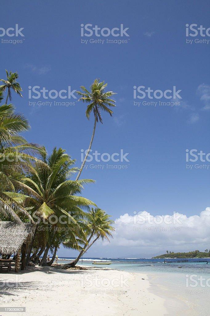 Polynesian island royalty-free stock photo