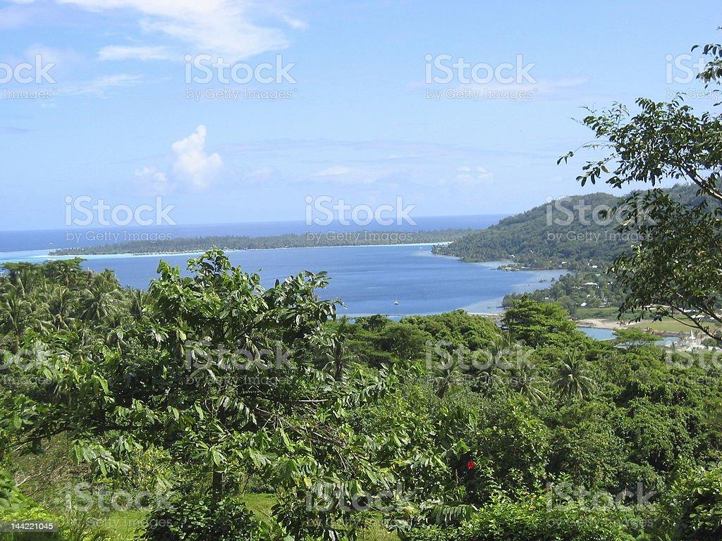Polynesian Landscape royalty-free stock photo