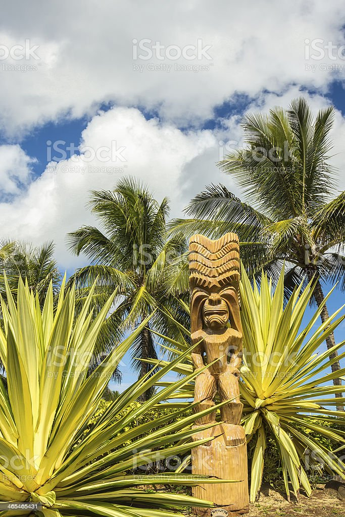 Polynesian Tiki stock photo