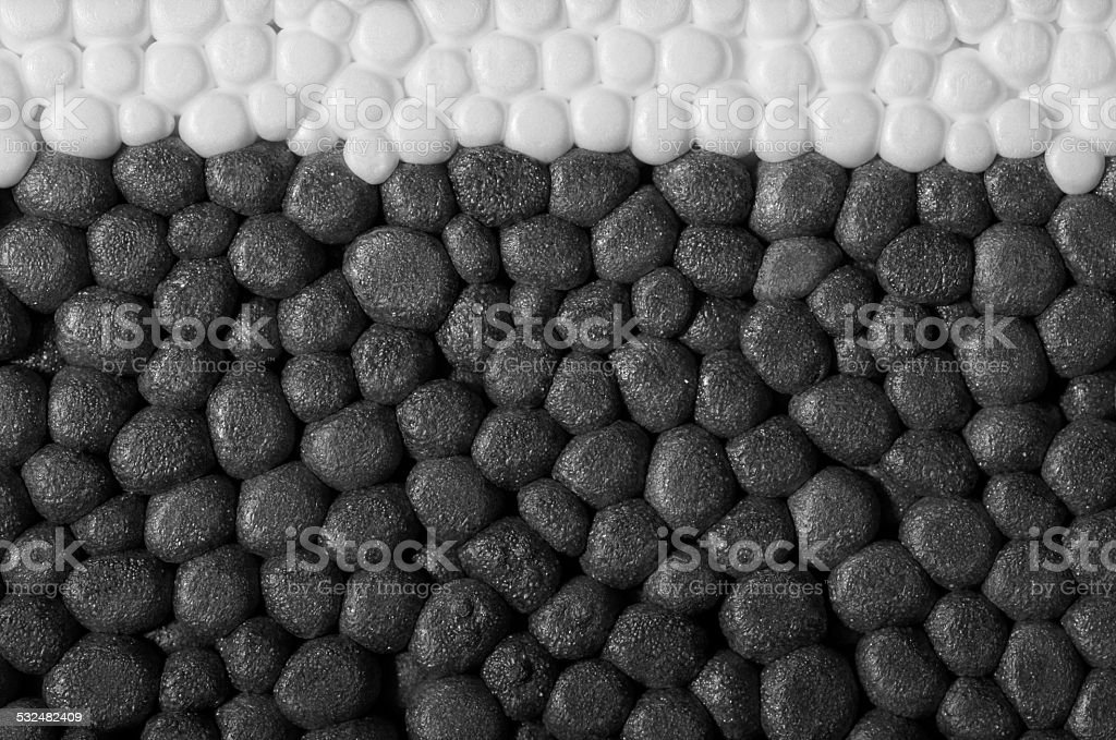 Polystyrene closeup stock photo