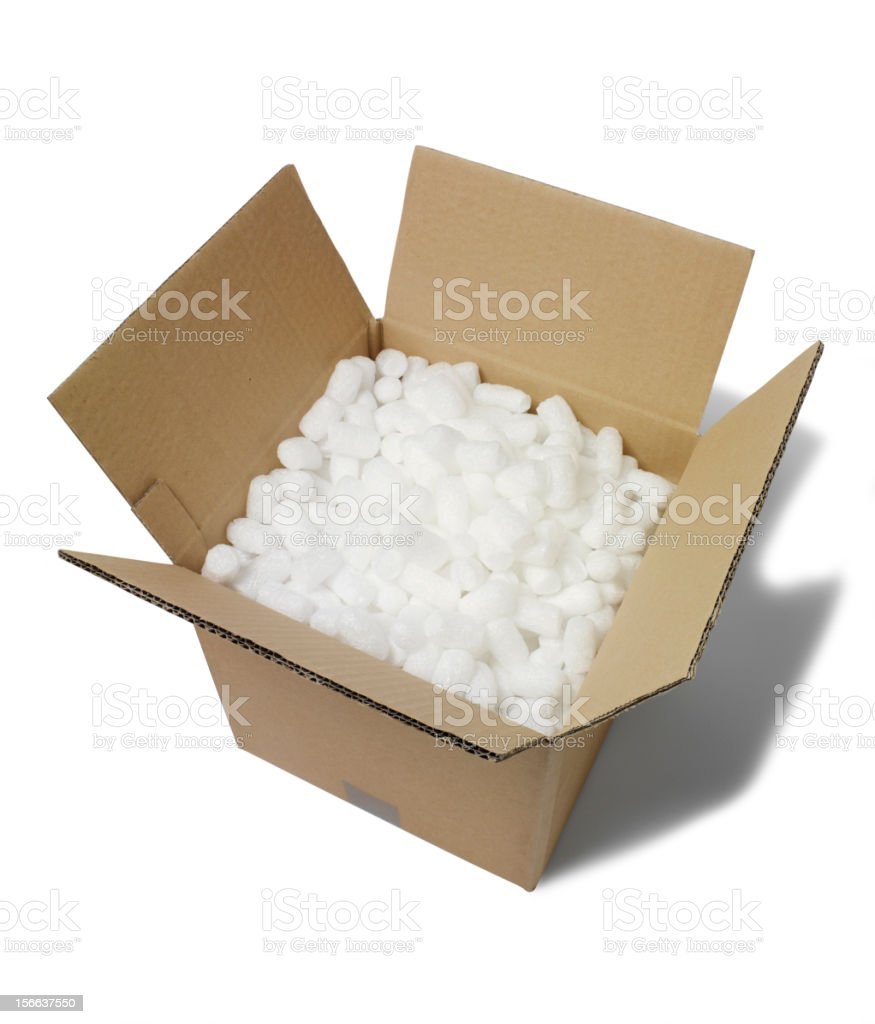 Polystyrene in a Open Box stock photo