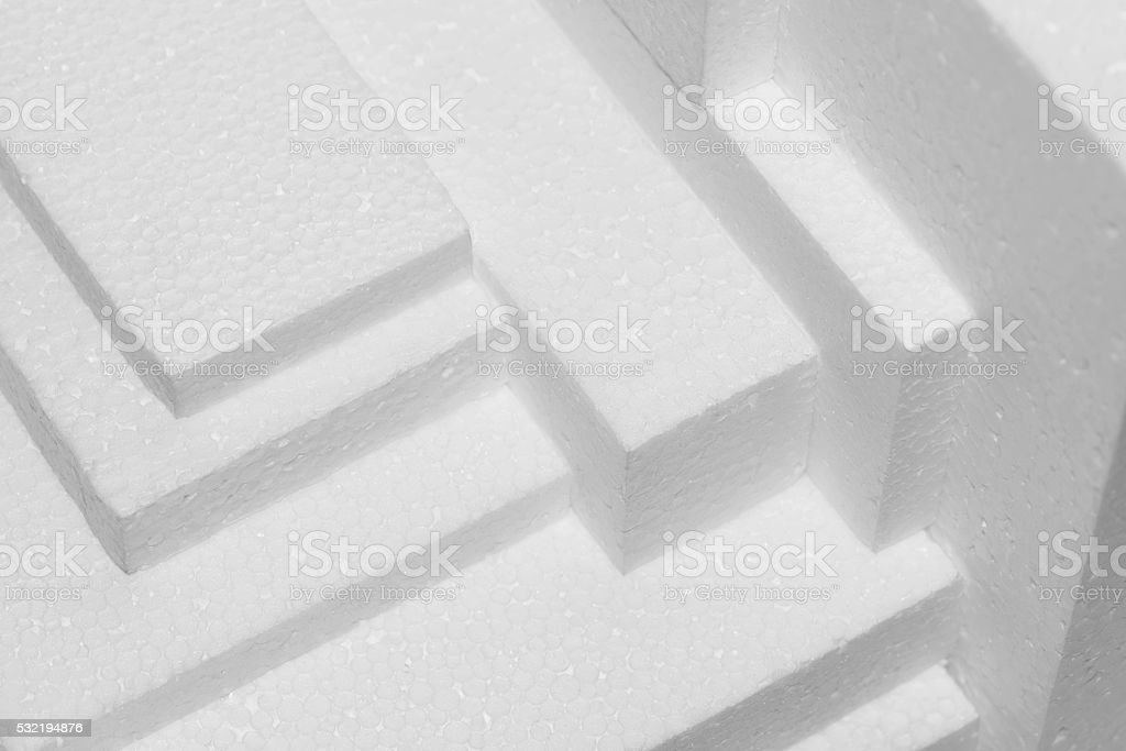 polystyrene sheets stock photo