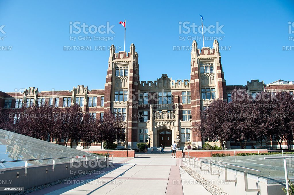 SAIT Polytechnic school buildings stock photo