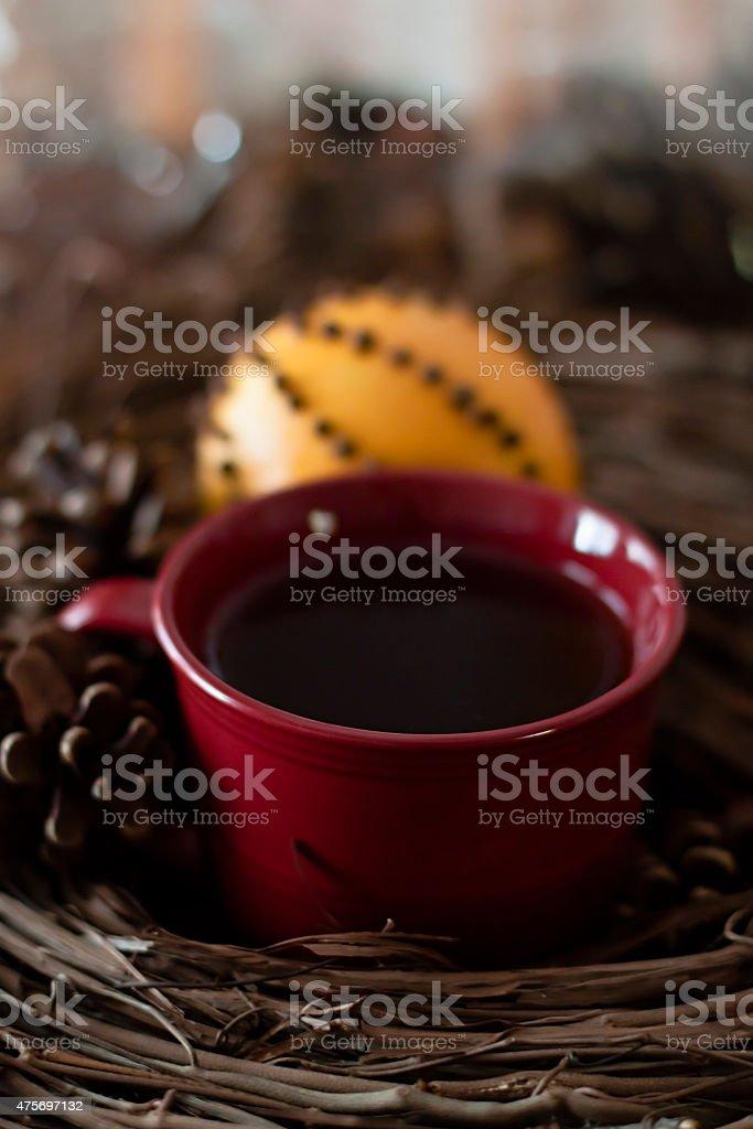 pomander orange tea stock photo