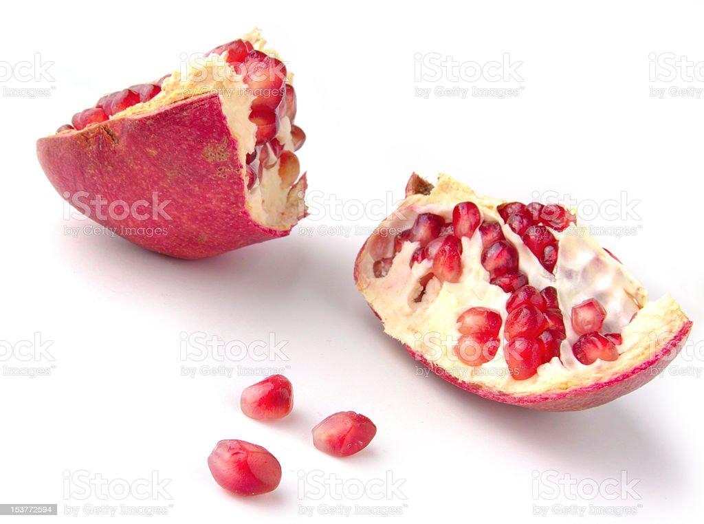 Granatapfel gegen Weiß Lizenzfreies stock-foto
