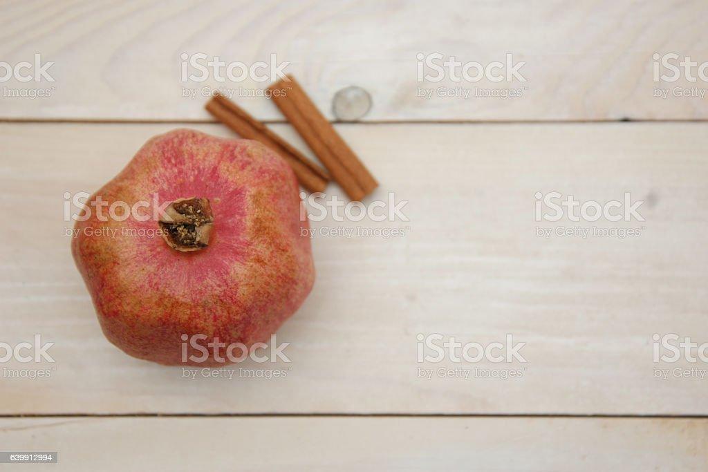 Pomegranate and cinnamon stock photo