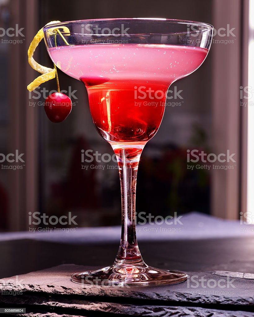 Pomegranate cocktail  on black background 86 stock photo