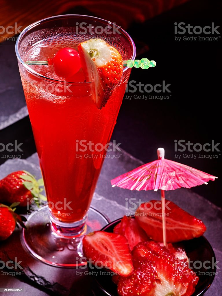 Pomegranate drink with raspberries 87 stock photo