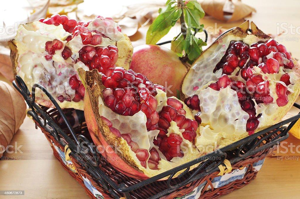 pomegranate fruits stock photo