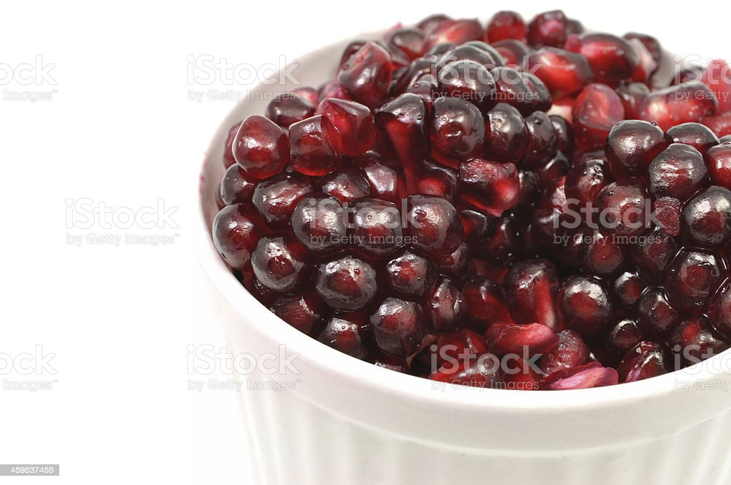 Pomegranate in a Bowl - Healthy Snack or Breakfast royalty-free stock photo
