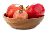 Pomegranate in Wooden Bowl