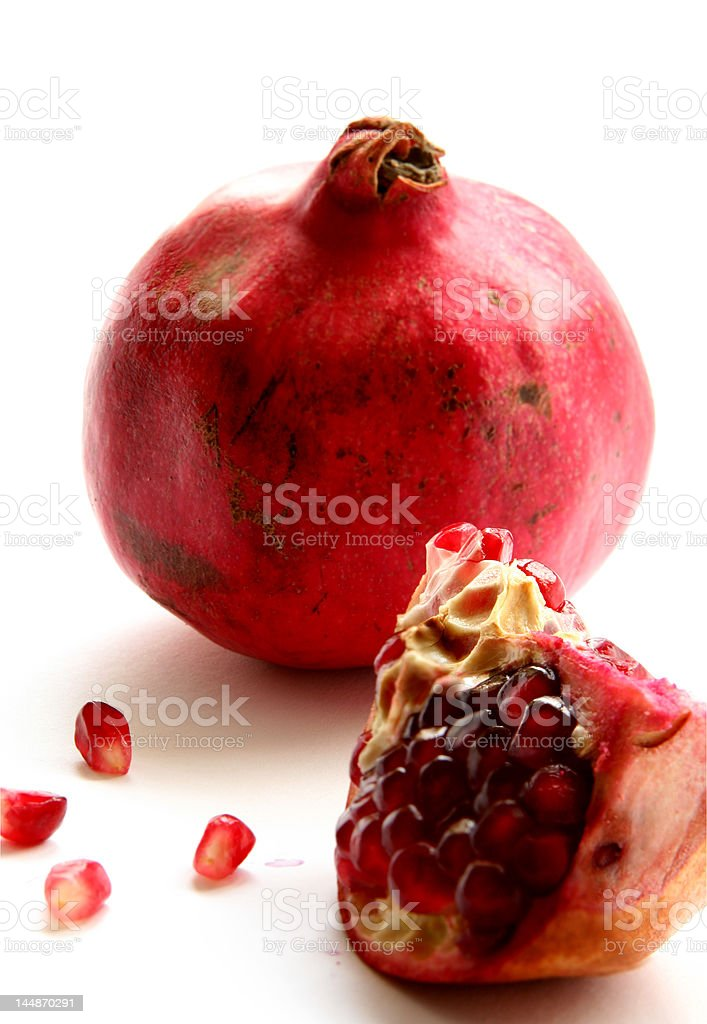 Pomegranate isolated in White Background royalty-free stock photo