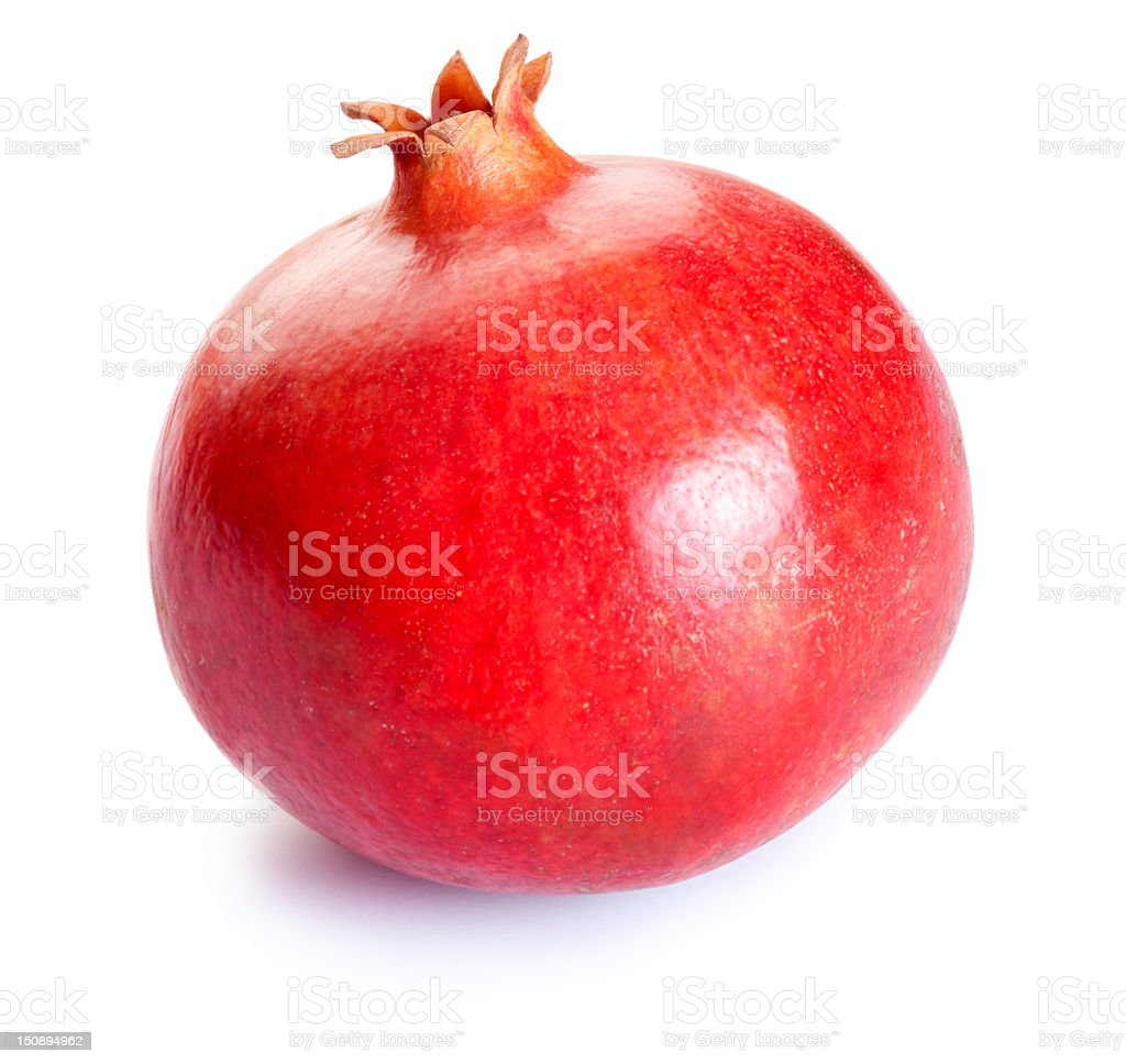 Pomegranate isolated on white stock photo