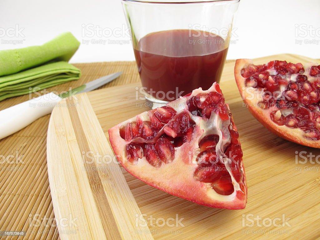 Pomegranate juice royalty-free stock photo