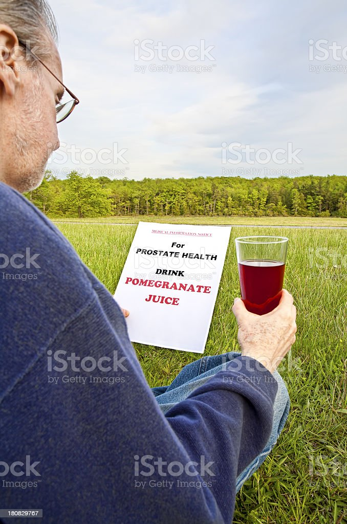 Pomegranate Juice - Prostate Health royalty-free stock photo