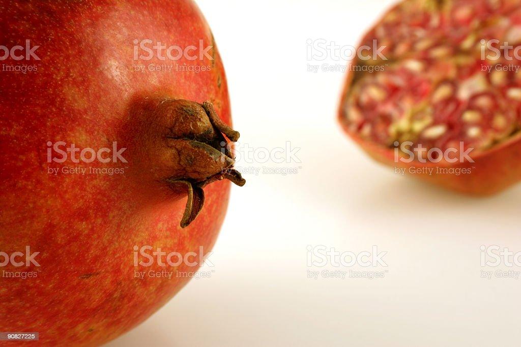 Pomegranate Near Far stock photo