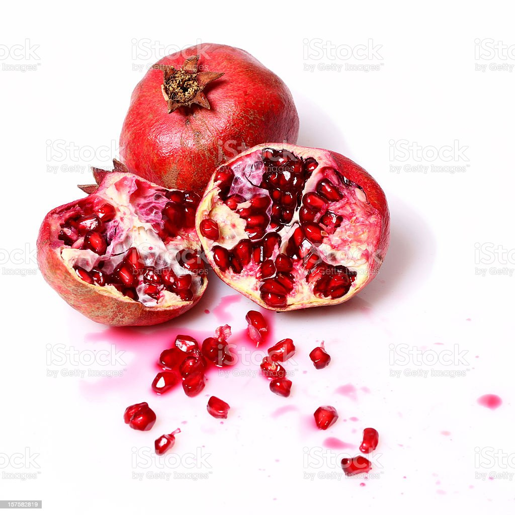 pomegranate stock photo