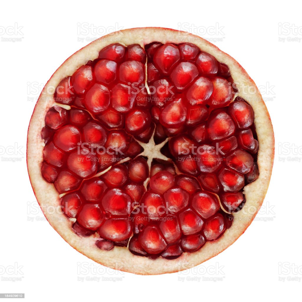 Pomegranate portion on white stock photo