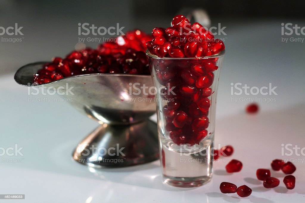 Pomegranate Shot royalty-free stock photo
