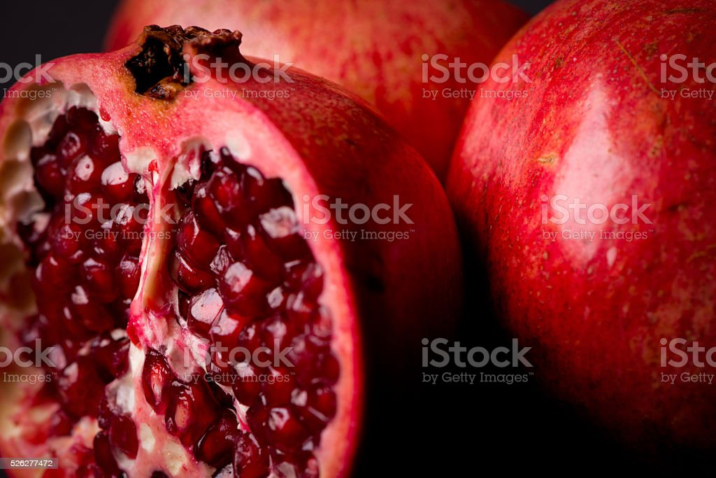 Pomegranate Slices stock photo