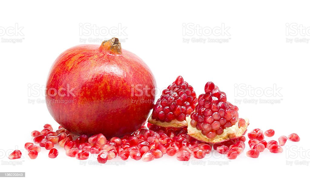 pomegranate with grains royalty-free stock photo