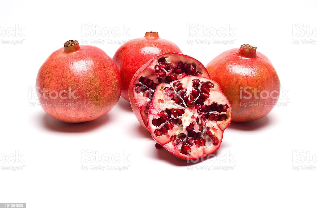 Pomegranates royalty-free stock photo