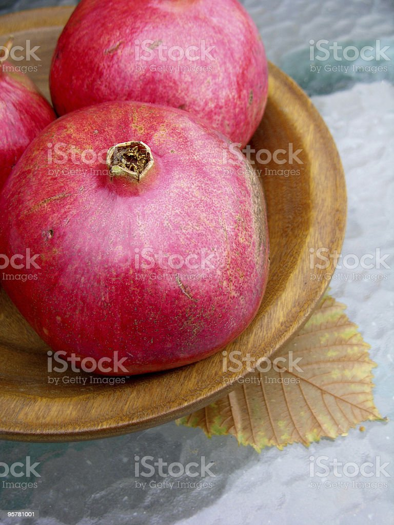 Pomegranates royalty-free stock photo