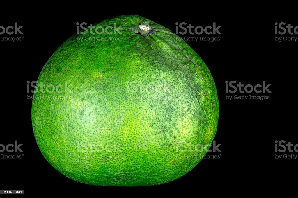 Pomelo Isolated on a Black Background stock photo