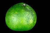 Pomelo Isolated on a Black Background
