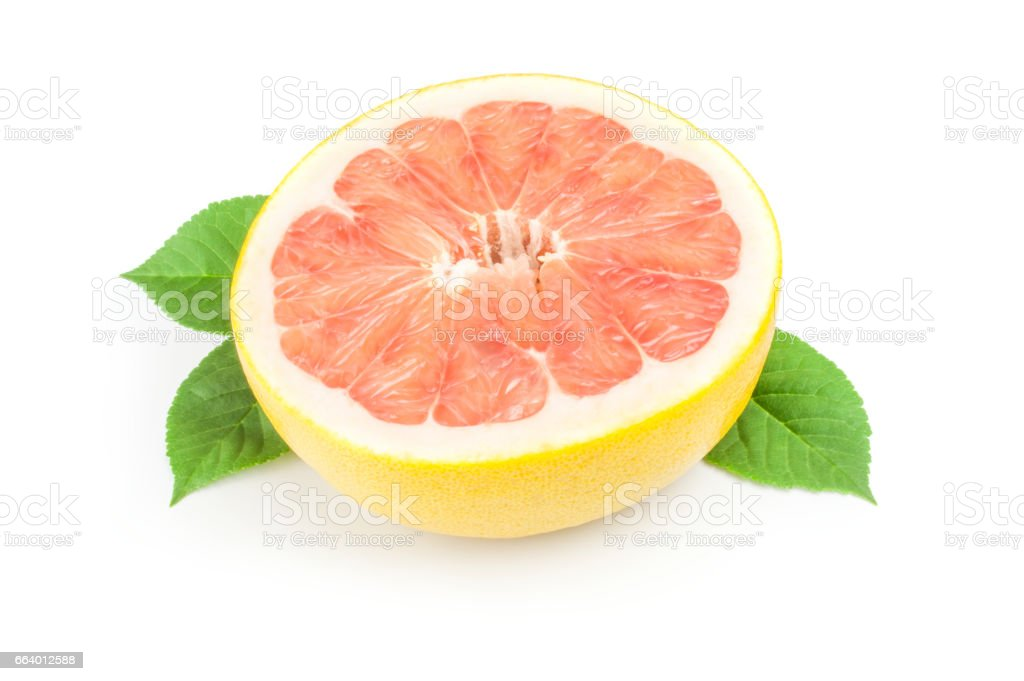 Pomelo isolated on a white background cutout stock photo
