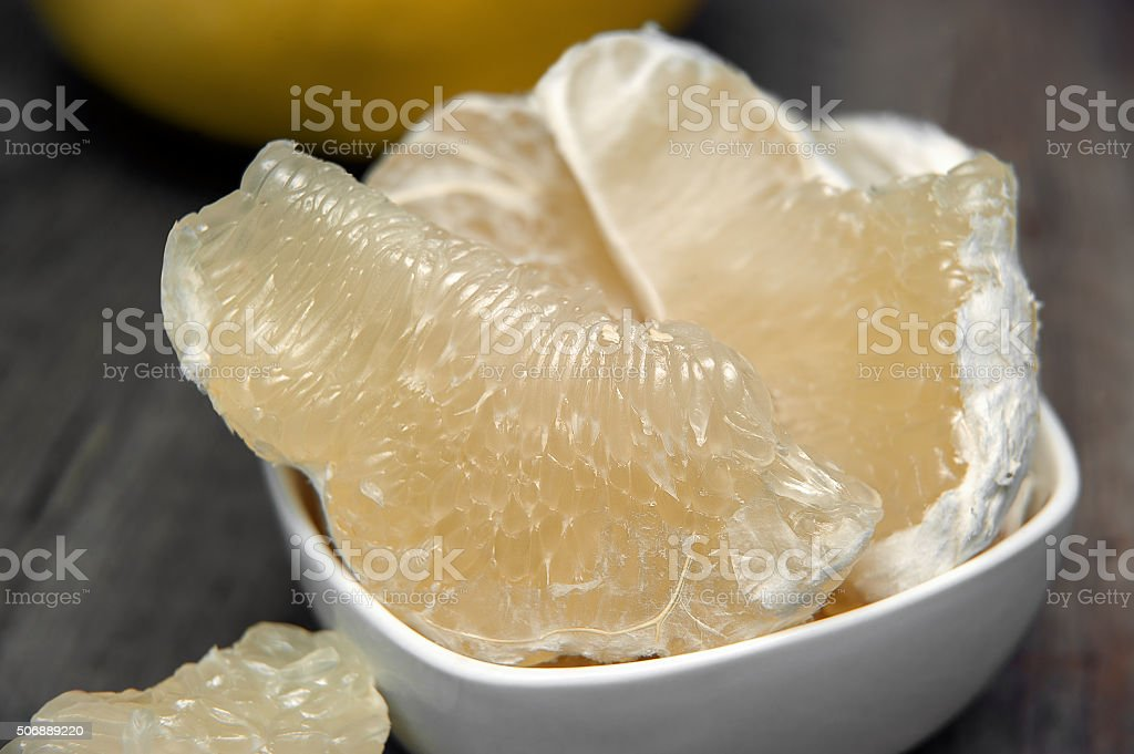 Pomelo or grapefruit. Fresh and tasty tropical fruit. stock photo