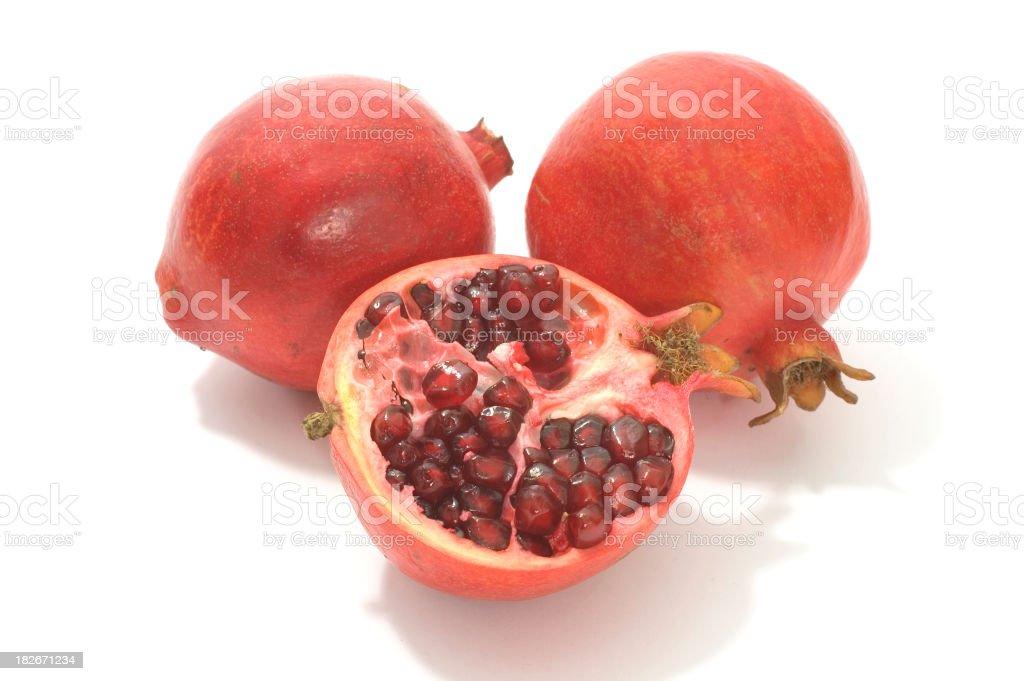 Pommegranates stock photo