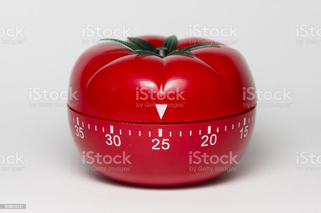 Pomodoro technique stock photo