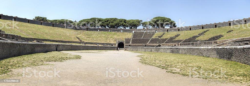 Pompei Arena stock photo