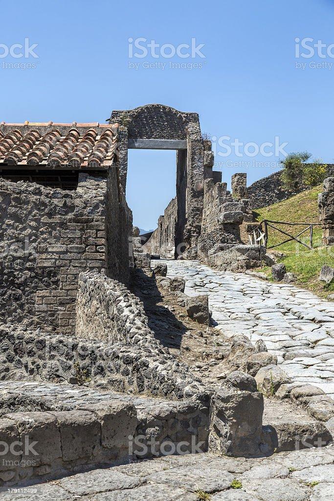 Pompei Gateway stock photo