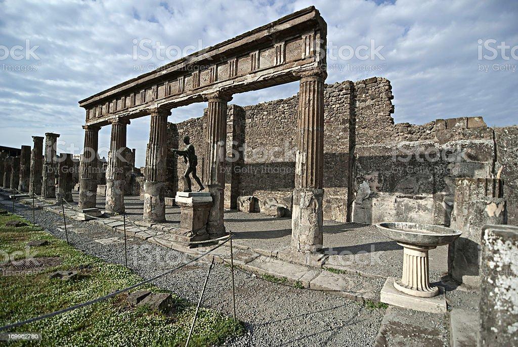 Pompeii, Apollo Temple royalty-free stock photo