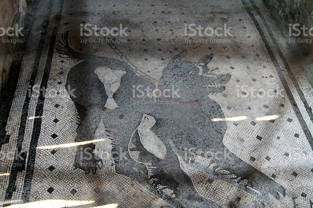 Pompeii archeological ruins stock photo