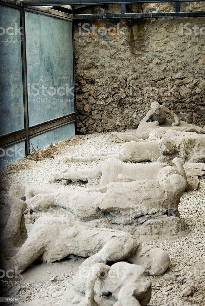 Pompeii Corpses stock photo