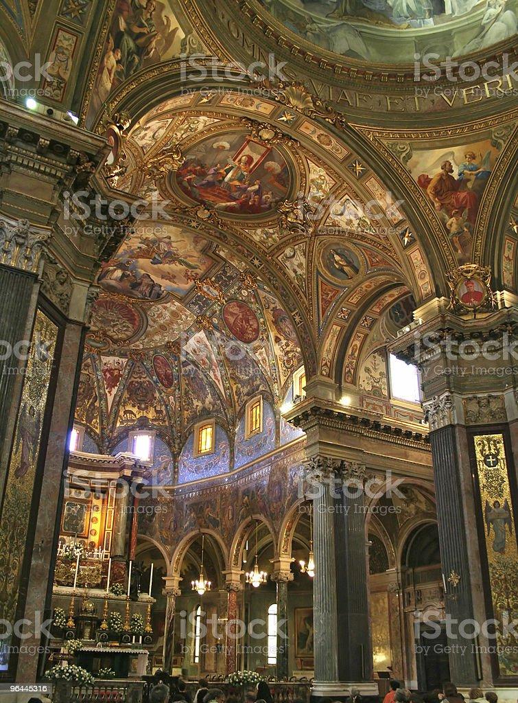 Pompeii Dome - Church Interior royalty-free stock photo