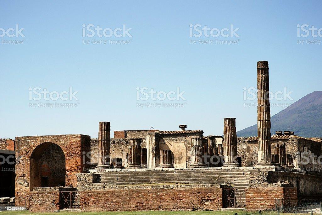 Pompeii Forum Zeus temple stock photo