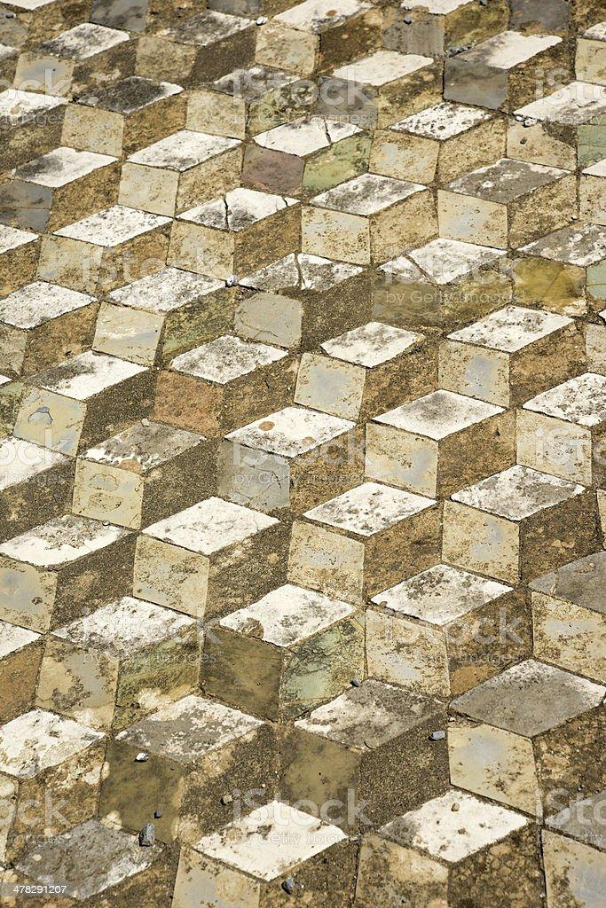 Pompeii: Geometric mosaic royalty-free stock photo