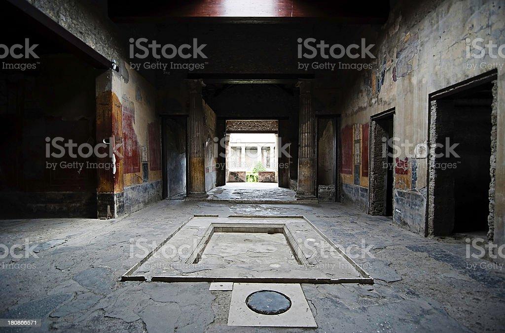Pompeii house royalty-free stock photo