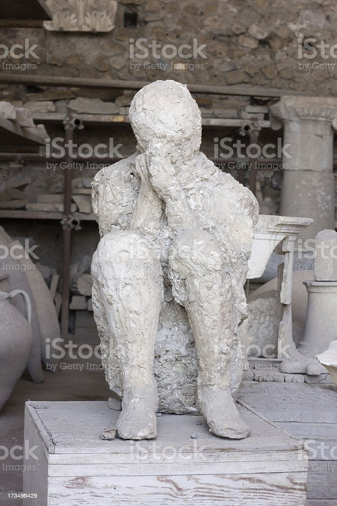 Pompeii in Naples, Italy royalty-free stock photo