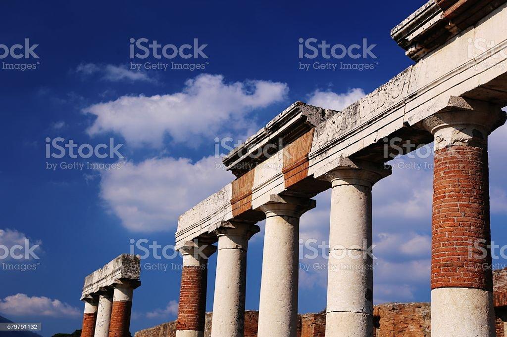 Pompeii, Italy-Architectural Ruins stock photo