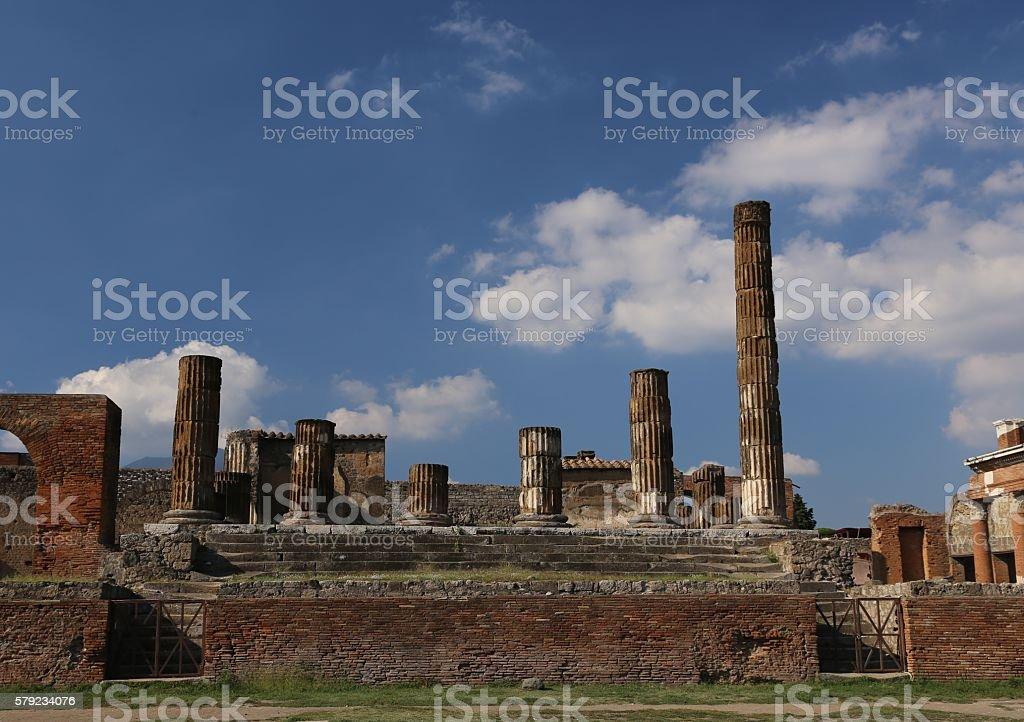 Pompeii, Italy-Ruins stock photo