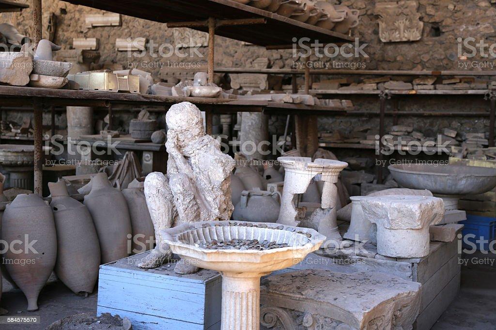 Pompeii, Italy-Victim of Mt. Vesuvius' Wrath stock photo