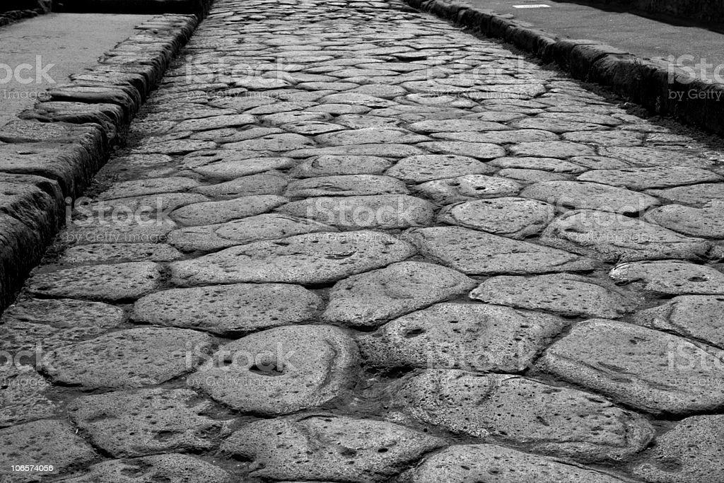 Pompeii Road royalty-free stock photo