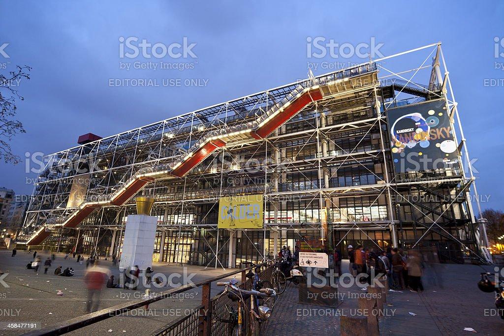 Pompidou Center royalty-free stock photo
