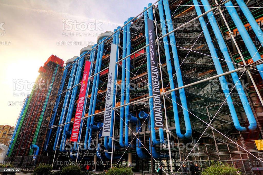 Pompidou stock photo