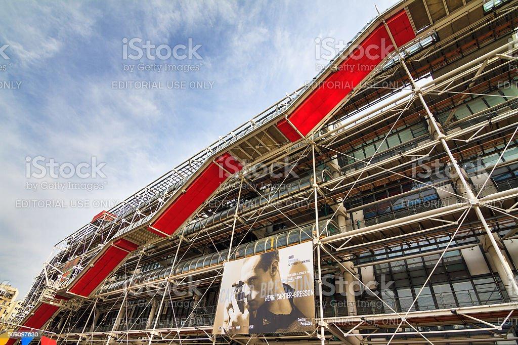 Pompidou stairs stock photo